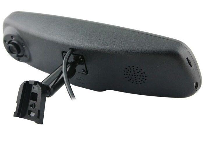Зеркало заднего вида с монитором и видеорегистратором